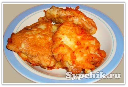 отбивные из куриной грудки с сыром в кляре
