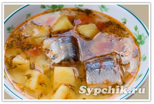Рецепт приготовления рыбного супа из консервов с фото