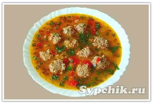 Рецепт приготовления супа с фрикадельками с фото