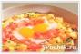 Яйца с картофелем и ветчиной